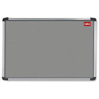Nobo Grey 1200x900 Alu/Frame Noticeboard