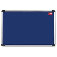 Nobo Blue 1200x900 Alu Frame Noticeboard