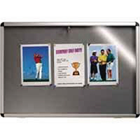 Nobo Lockable Grey 1265x965 Visual Board