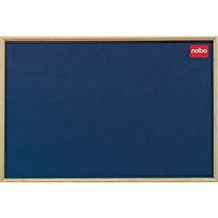 Nobo Blue 1200x900 Oak/Frame Noticeboard