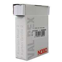 Nobo T-Card Size 2 White Pk100