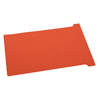 Nobo Red T-Card Size 2 Pk100