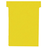 Nobo T-Card Size 3 Yellow Pk100