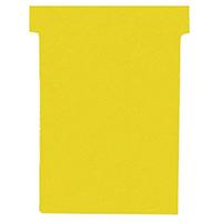 Nobo T-Card Size 4 Yellow Pk100