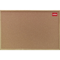 Nobo Cork Board 900x600mm Classic Oak
