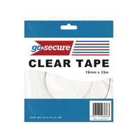 GoSecure Small Tape 19mmx33m Clear Pk12
