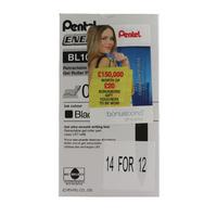 Pentel EnerGel Black 0.7 Rollerball Pk12