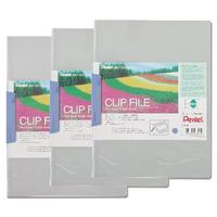 Pentel R/cology A4 Blue Clip File Pk10