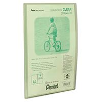 Pentel Green/Clear A4 Display Book 20Pkt