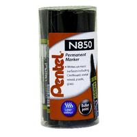 Pentel Black N850 Perm Bullet Marker P12