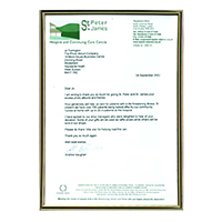 Photo Co. A4 Blk/Gld Certificate Frame