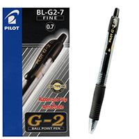 Pilot G207 Retract Gel Black Pen G2 Pk12