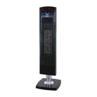 2kW PTC Ceramic Tower Fan Heater Black