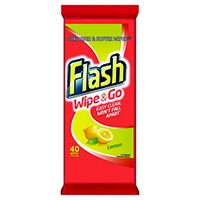 Flash Wipe  Go Lemon Wipes Pk40
