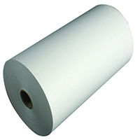 White 214x120mm 1-Ply Telex Roll TR91