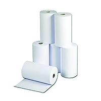 White 214x120mm 2-Ply Telex Roll TR82