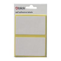 Blick 50x80mm White Label Bag