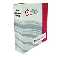 Blick Dispenser Label 25x50 White Pk400