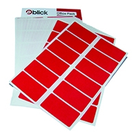 Blick Colour Label 25x50mm Red Pk320