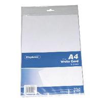 Stephens White A4 Card Sheets Pk10