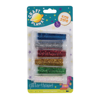 Glitter Shakers Assorted Colours Pk6
