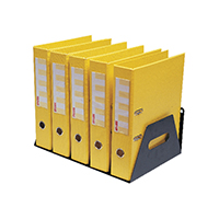 Rotadex Black 5-Section Lever Arch Rack