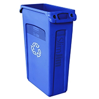 Rubbermaid Blue Slim Jim Venting 87 Ltr
