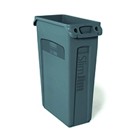 Rubbermaid Grey Slim Jim Venting 87 Ltr