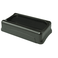 Rubbermaid Slim Jim Black Swing Lid