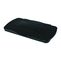 Rubbermaid Slim Jim Hinged Lid Black