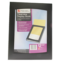 Rexel A4 Clearview Black 12 Pocket Book