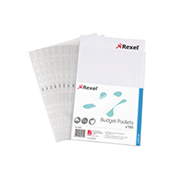 Rexel Budget Pocket A4 Clear 11000 Pk100