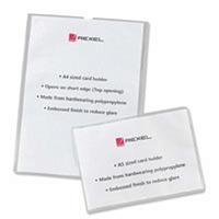 Rexel A4 Clear Open Top Card Holder Pk25