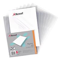Rexel A4 PVC Clear Cut Back Folder Pk25