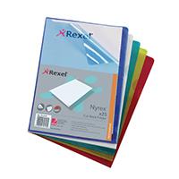 Rexel A4 PVC Cut Back Folder Asstd Pk25