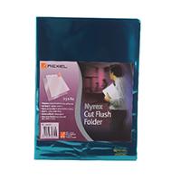 Rexel A4 PVC Green Cut Flush Folder Pk25
