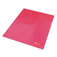 Rexel Nyrex A4 Red Cut Flush Folder Pk25