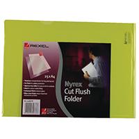 Rexel A4 Yellow Cut Flush Folder Pk25