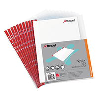Rexel Nyrex Clear Pocket Side Open Pk25
