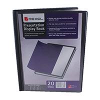 Rexel A4 Black 20Pkt Pres Display Book
