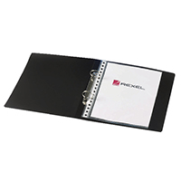 Rexel Budget 2 Ring A5 Binder Black Pk10
