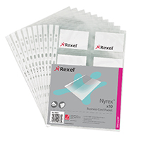 Rexel Nyrex A4 Business Card Pocket Pk10