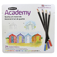 Derwent Acdmy Colouring Pencils Tin Pk24