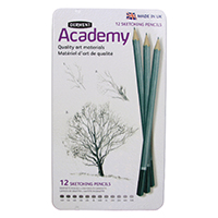 Derwent Acdmy Sketching Pencils Tin Pk12