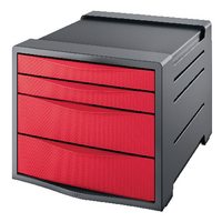 Rexel Choices Red Drawer Cabinet
