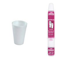 Smooth Insulated Cups 10oz White Pk20