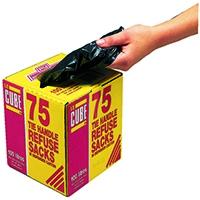 Le Cube Tie Handle Refuse Sacks Pk75