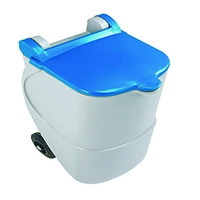 Recycling Wheelie Bin 90L Non-Lock Blue