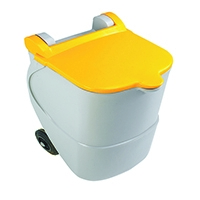 Recycling Wheelie Bin 90L No-Lock Yellow