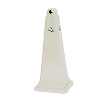 Beige Plastic Pyramid Style Ash Stand